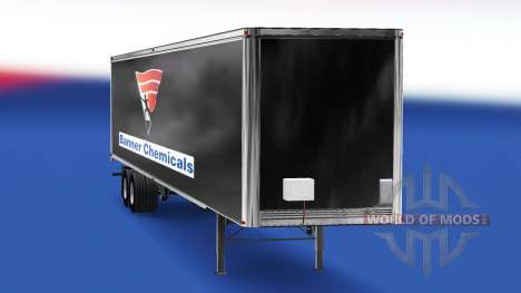 Haut-Banner Chemikalien v2.0 auf dem semi-traile für American Truck Simulator