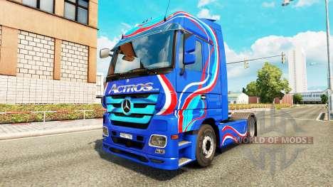 Skin-Blue Edition-Zugmaschine Mercedes-Benz für Euro Truck Simulator 2