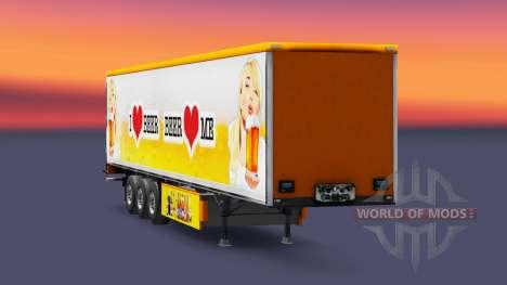 Haut Bier für Anhänger für Euro Truck Simulator 2