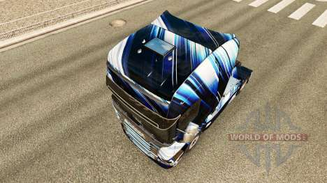 Les Rayures bleues de la peau pour Scania camion pour Euro Truck Simulator 2