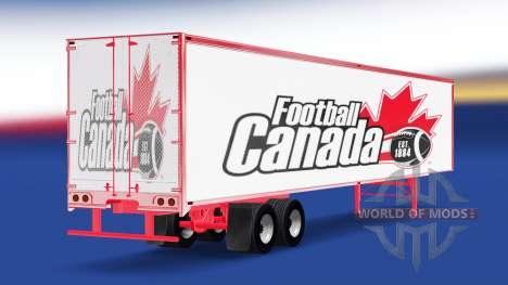 Haut-Fußball-Kanada auf dem Anhänger für American Truck Simulator