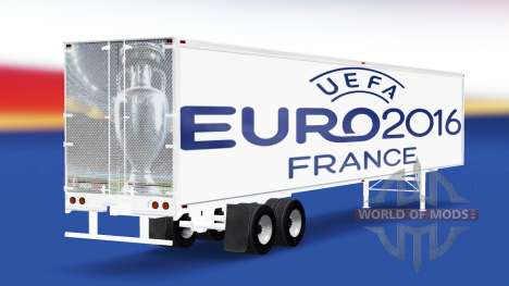La peau de l'Euro 2016 v2.0 sur la semi-remorque pour American Truck Simulator