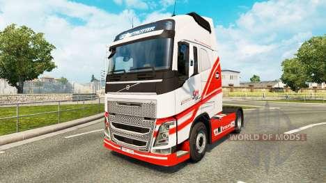 TruckSim-skin für den Volvo truck für Euro Truck Simulator 2