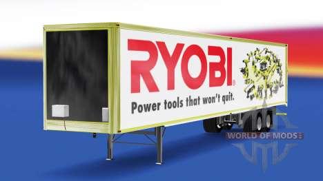 Haut Ryobi auf den trailer für American Truck Simulator