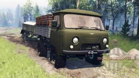 UAZ-452Д v4.0 für Spin Tires