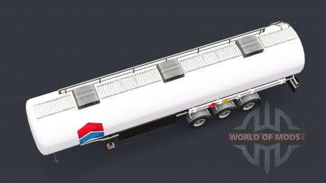 La peau de Chevron de carburant semi-remorque pour Euro Truck Simulator 2
