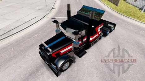 Noir Métallique de la peau pour le camion Peterb pour American Truck Simulator