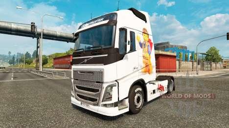 Die Lego-skin für den Volvo truck für Euro Truck Simulator 2