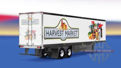 Haut Ernte Markt, auf dem Rücken eines halb für American Truck Simulator