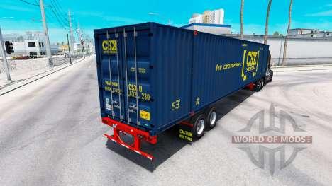 Semi-remorque conteneur CSX Intermodal pour American Truck Simulator