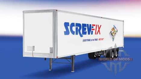 La peau Screwfix sur la remorque pour American Truck Simulator