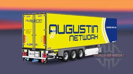 Semi-trailer-Kühlschrank Chereau Augustin Networ für Euro Truck Simulator 2