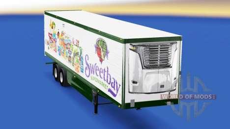 Haut Sweetbay Supermarkt auf dem Anhänger für American Truck Simulator
