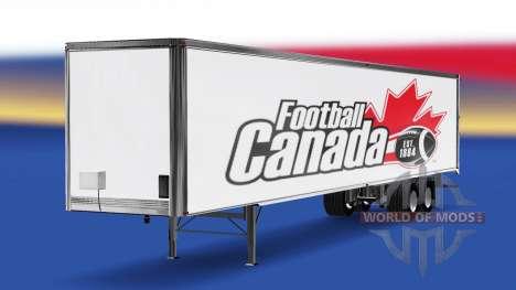 La peau de Football Canada v2.0 sur la semi-remo pour American Truck Simulator