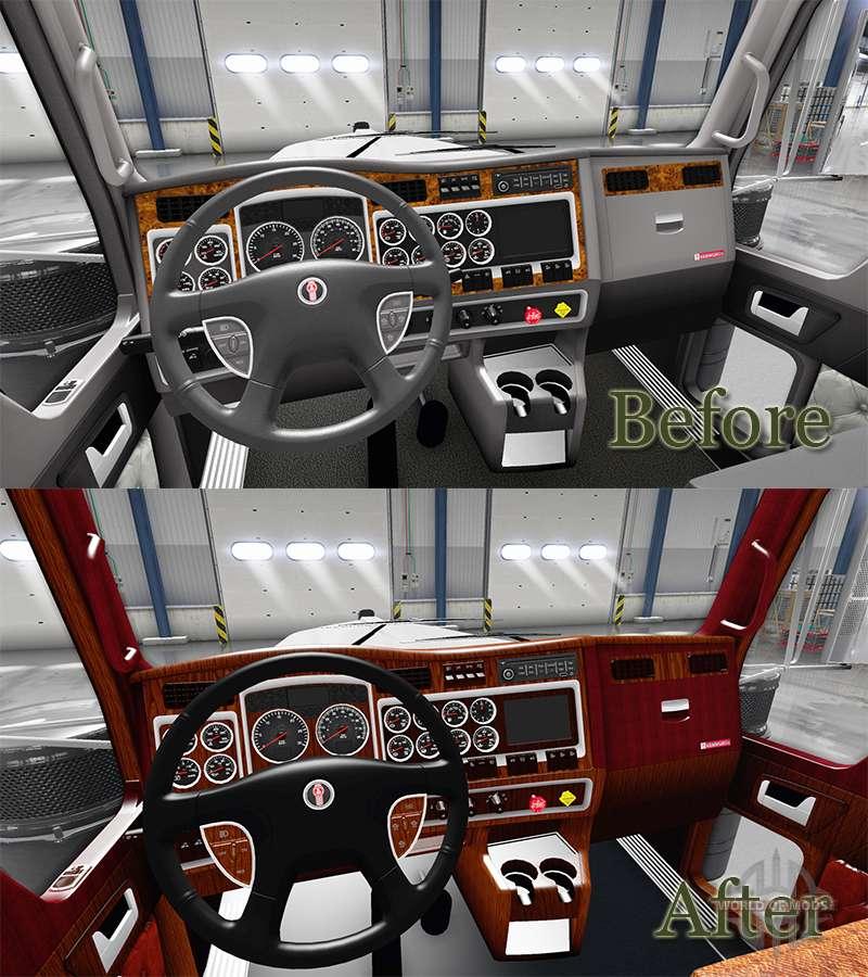 Int rieur pour kenworth w900 pour american truck simulator for Interieur 050