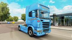 Braspress de la peau pour Scania camion