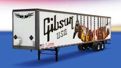 Haut Gibson-Gitarren auf den trailer