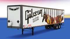 La peau Gibson Guitares sur la remorque