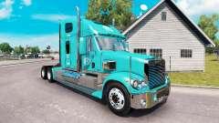La peau de la FFE sur le camion Freightliner Cor
