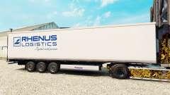 La peau Rhenus Logistics pour les semi-frigorifi