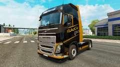 Schwarz-Gold-skin für Volvo-LKW