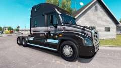La peau de la Martre sur le camion Freightliner