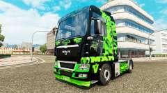 Dragon vert de la peau pour l'HOMME de camion