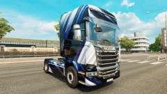 Blaue Streifen-skin für den Scania truck