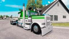 Die Haut Weiß-grün metallic für den truck-Peterb