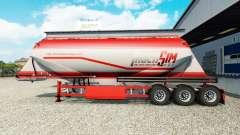 TruckSim Haut auf die Auflieger-Zement-LKW