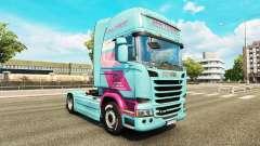 Jan Tromp de la peau pour Scania camion