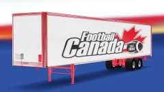 La peau de Football Canada sur la remorque