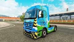 Peau Vert pour tracteur Mercedes-Benz