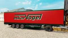 La peau Oskar Vogel sur la semi-remorque-le réfr