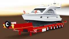 Bas de balayage avec une cargaison de yachts