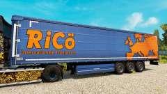 La peau de Rico sur les remorques