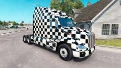 Le Damier de la peau pour le camion Peterbilt