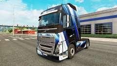 Les Rayures bleues de la peau pour Volvo camion