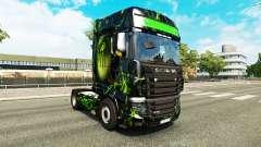 La peau Monstre sur tracteur Scania R700