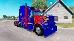 La peau Optimus Prime v2.0 tracteur Peterbilt 38