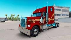 La peau Beggett sur le camion Freightliner Class