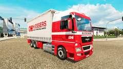H. Essers de la peau pour MAN TGX tracteur routi