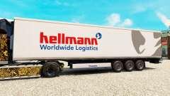 La peau Hellman sur la semi-remorque-le réfrigér