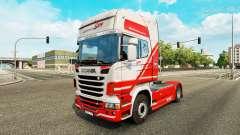 TruckSim de la peau pour Scania camion