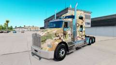 La peau de Camouflage sur le camion Kenworth T80