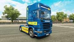 La peau de La Poste pour tracteur Scania