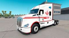 La peau Canadien Express Blanc tracteur Kenworth