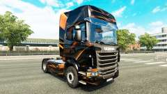 Orange mat de peau pour Scania camion