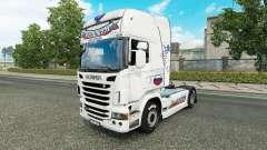 La russie Blanc de la peau pour le camion Scania