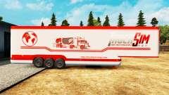 La semi-remorque-le réfrigérateur TruckSim
